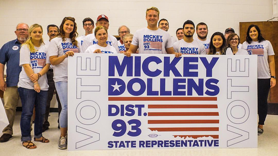 Mickey Dollens Capaigning for OK Dist. 93