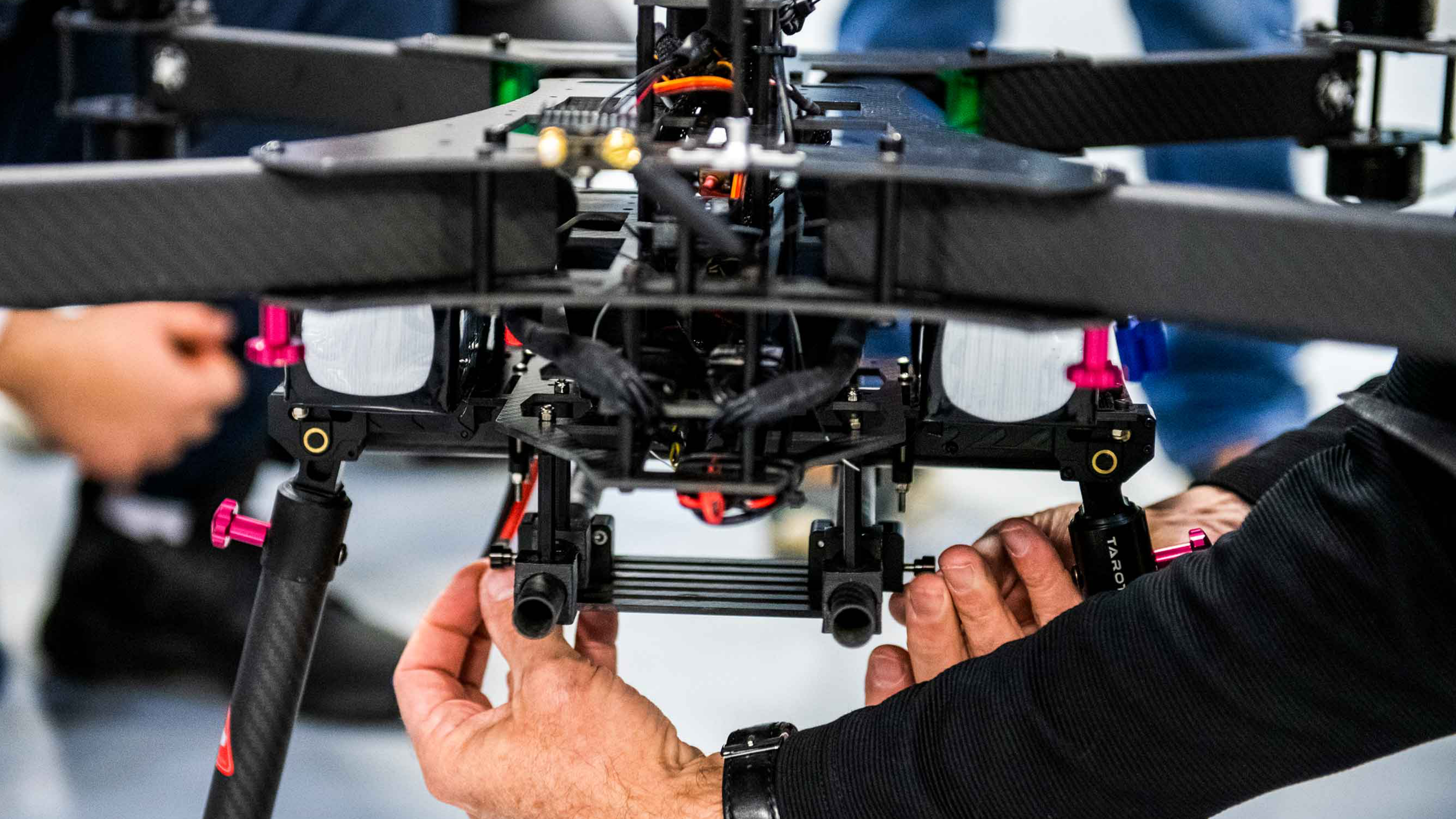 Photo of drone with hands