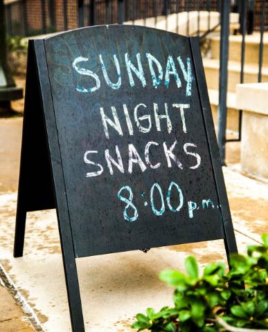 Sunday Night Snacks