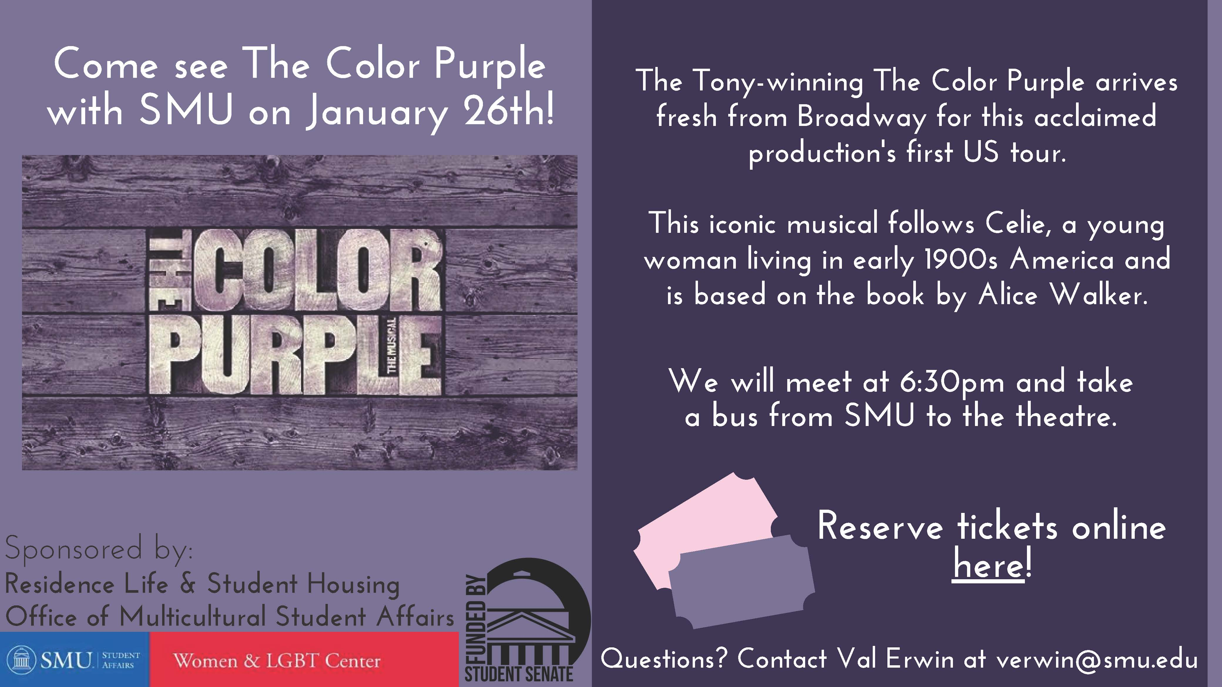 Color Purple Flyer