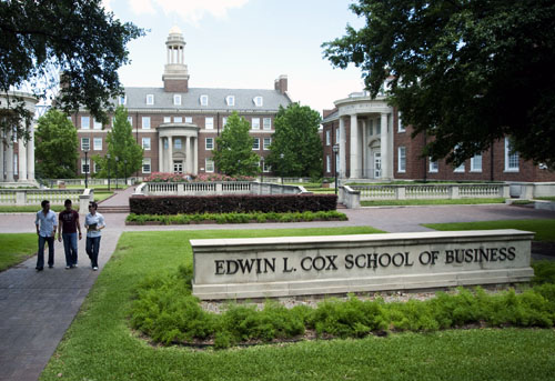 SMU's Cox School of Business quad