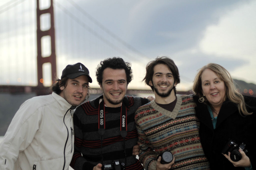 Documentary filmmaker Gayle Embrey with film crew