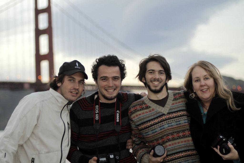 Documentary filmmaker Gayle Embrey with film crew