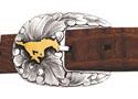 SMU Peruna belt buckle