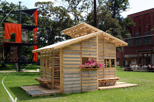 The Pallet House prototype by I-Beam Design