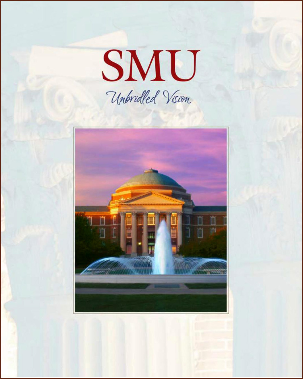 Book cover of 'SMU: Unbridled Vision'