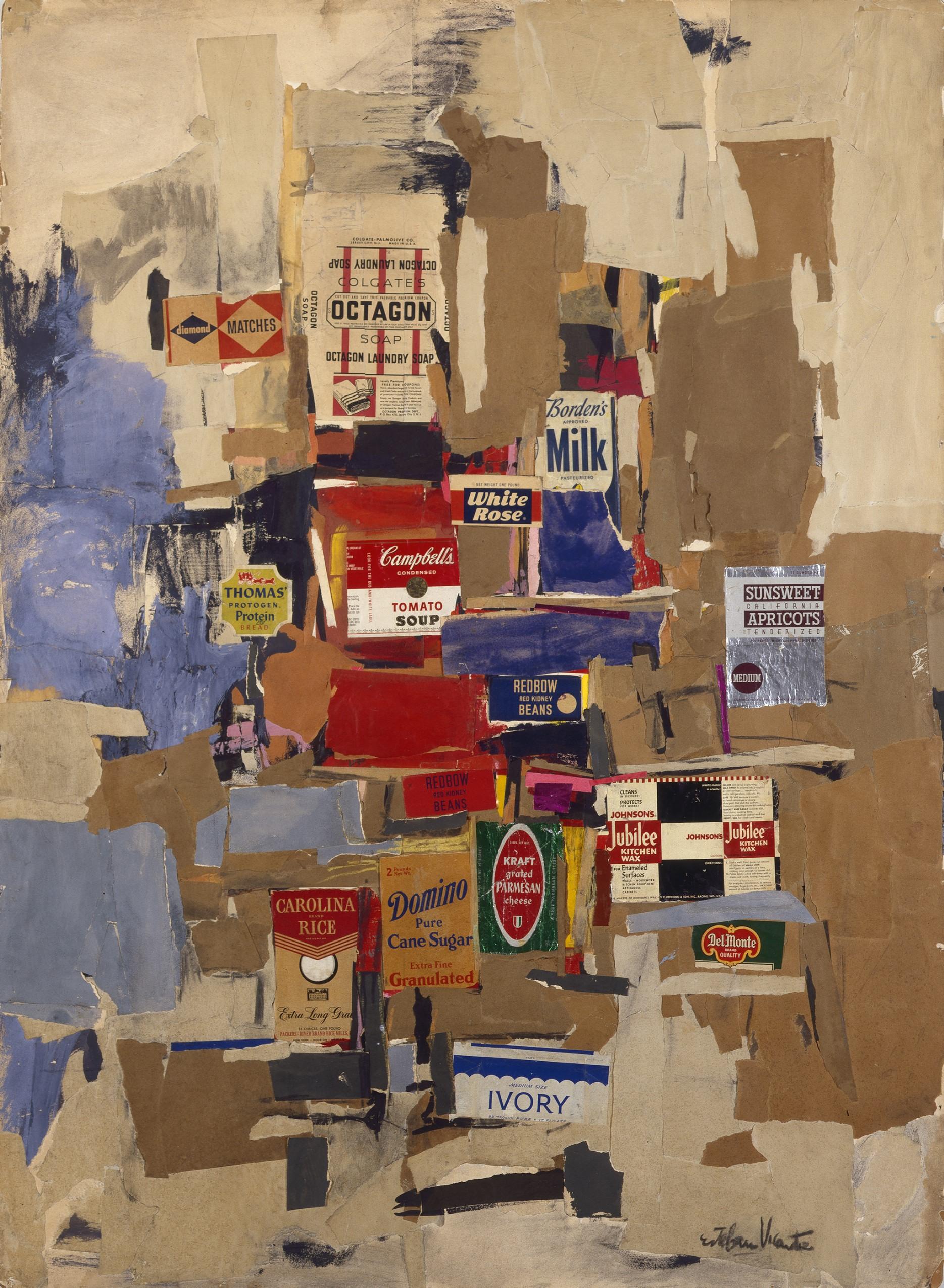 'Labels (1956) by Esteban Vicente