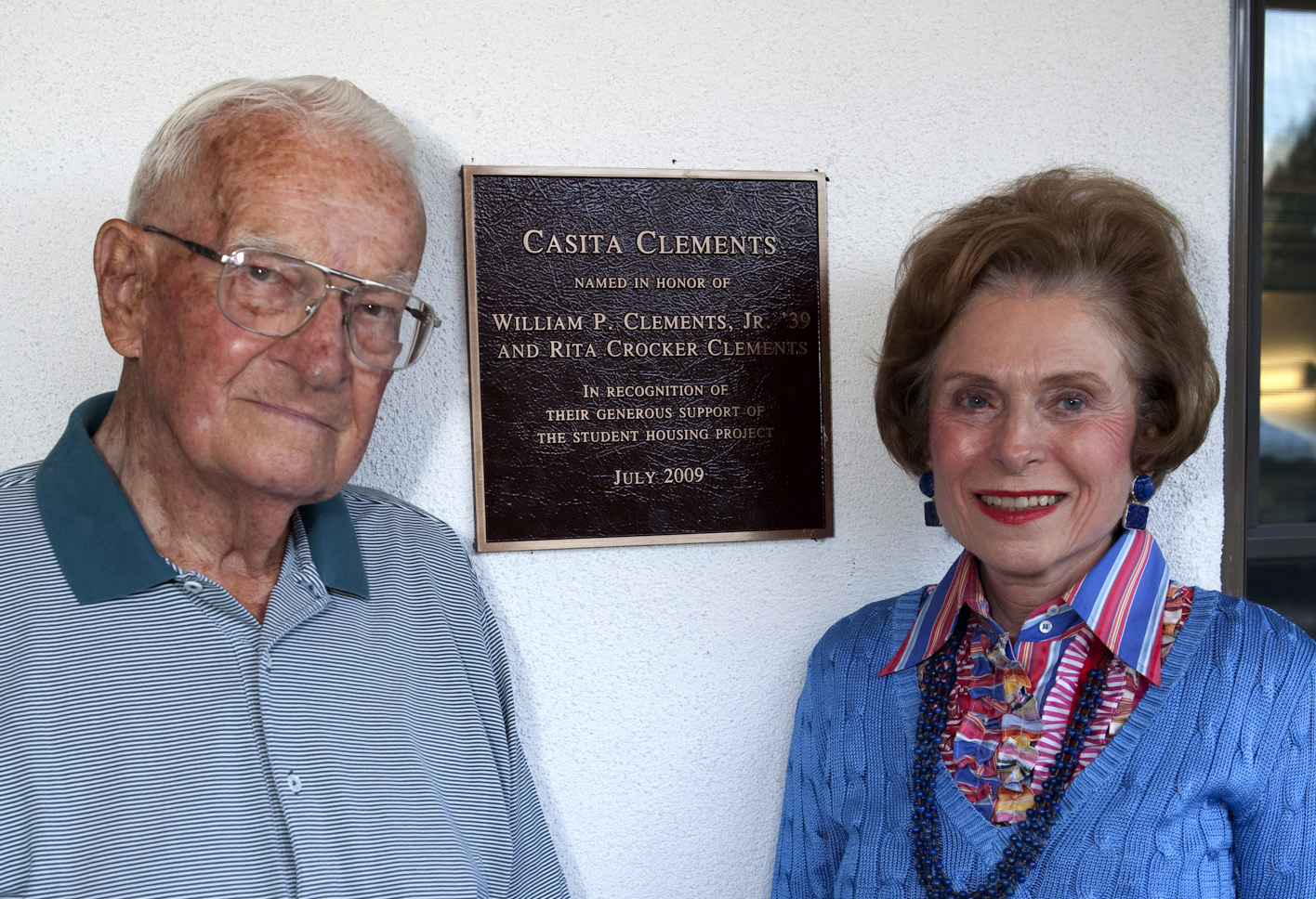 Bill and Rita Clements at SMU-in-Taos