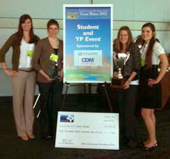 The winning design team from SMU's Lyle School of Engineering