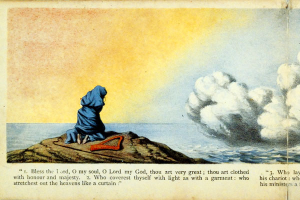 Image from Bridwell Library exhibit of religious books for children at SMU