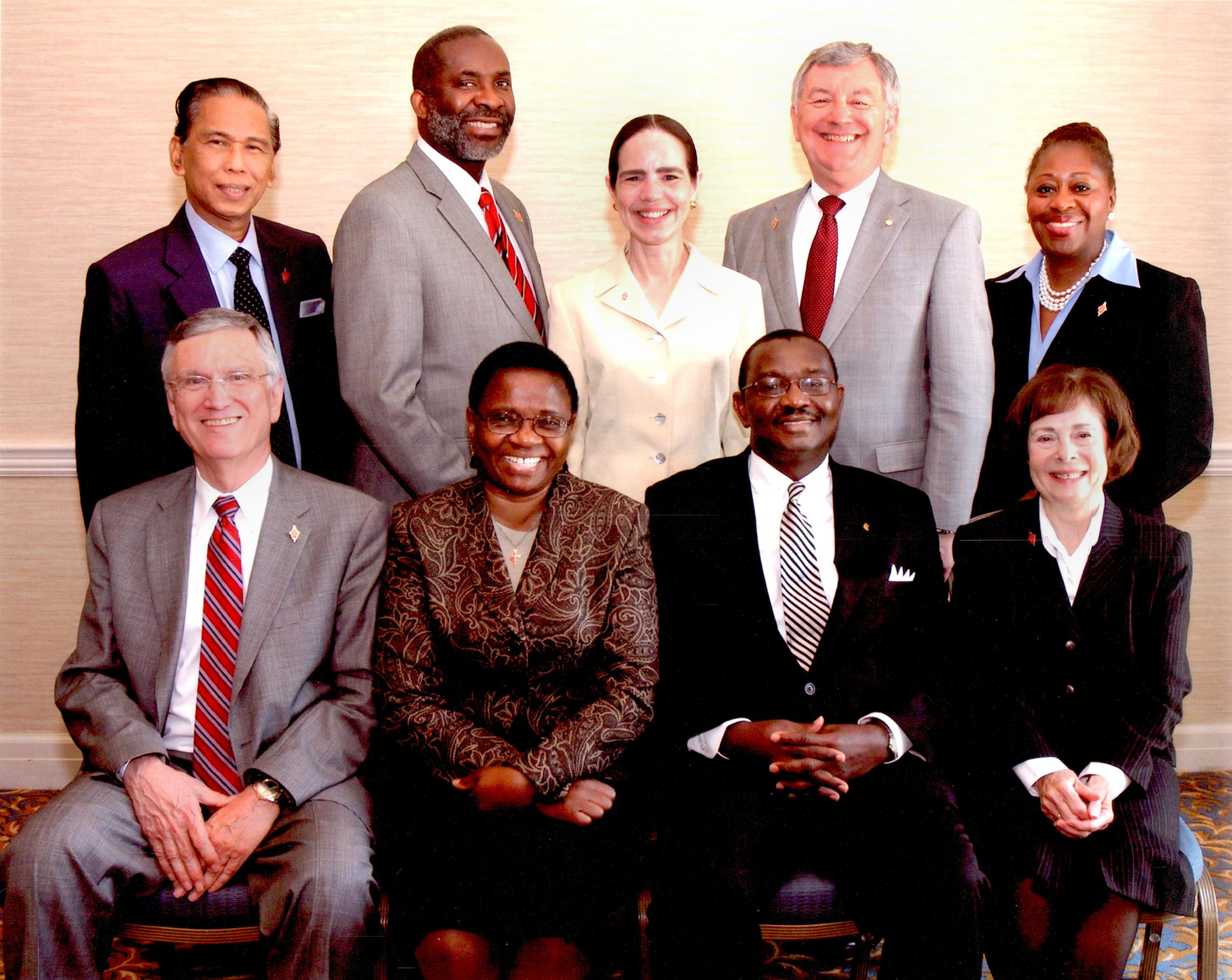 The United Methodist Church 2012-2016 Judicial Council - F. Belton  Joyner Jr., Jeanne Kabamba Kiboko, N. Oswald Tweh Sr., Katherine Austin Mahle, Ruben T. Reyes, Dennis Blackwell, Beth Capen, William B. Lawrence, and Angela Brown.