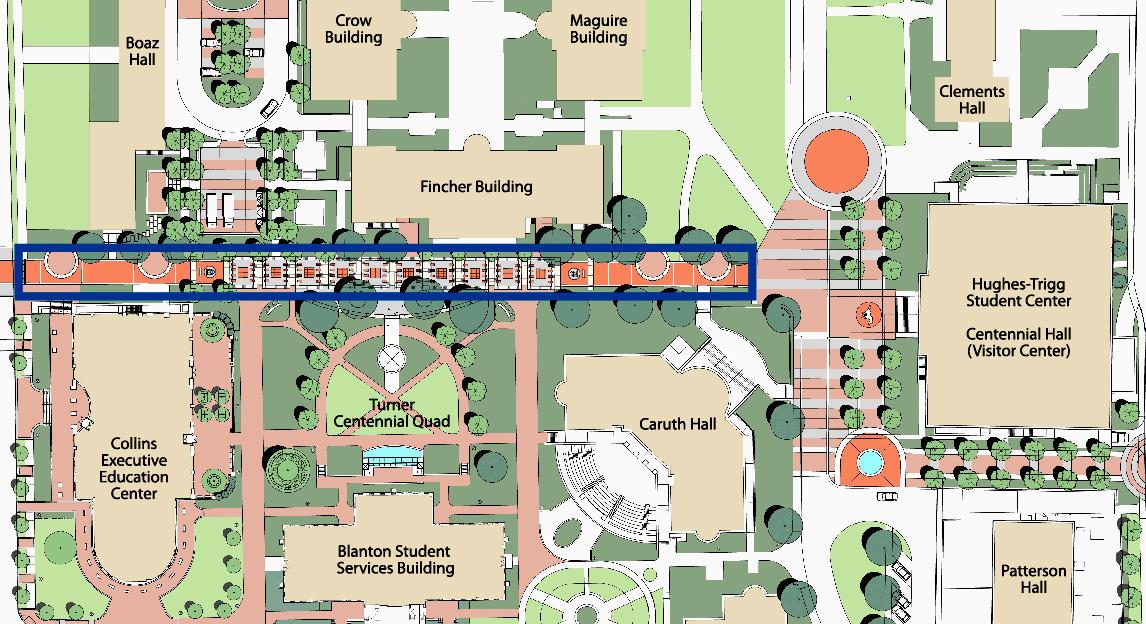 Crane Promenade at SMU