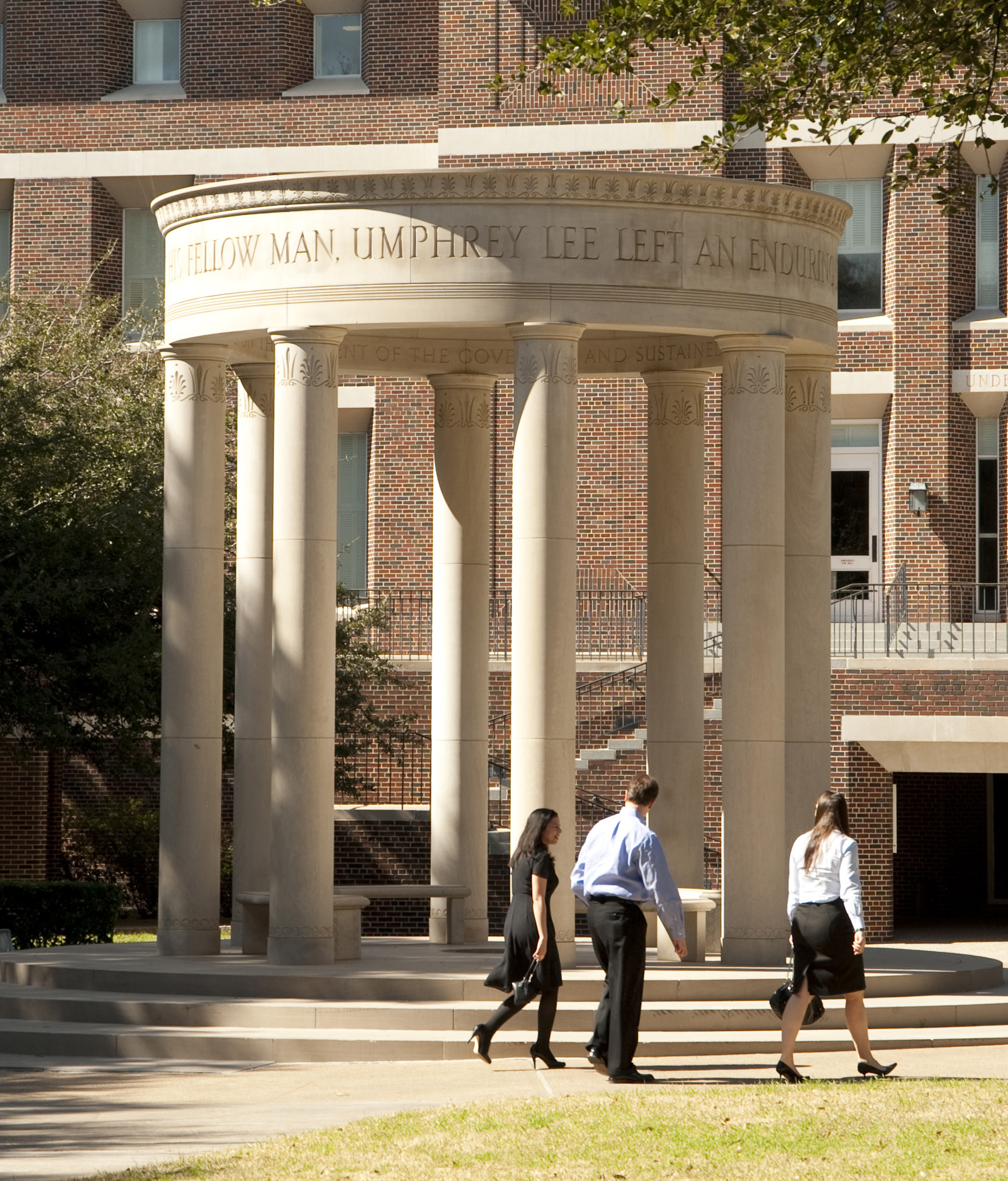 The Umphrey Lee Tempietto in the Dedman School of Law Quad, SMU