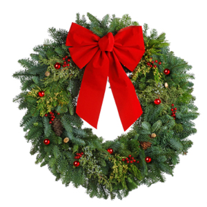 Stock photo of a Christmas wreath