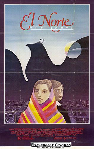 A film poster from Gregory Nava's 'El Norte'