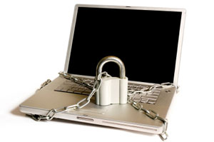 Locked-up laptop