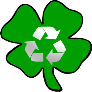 Recycled shamrock