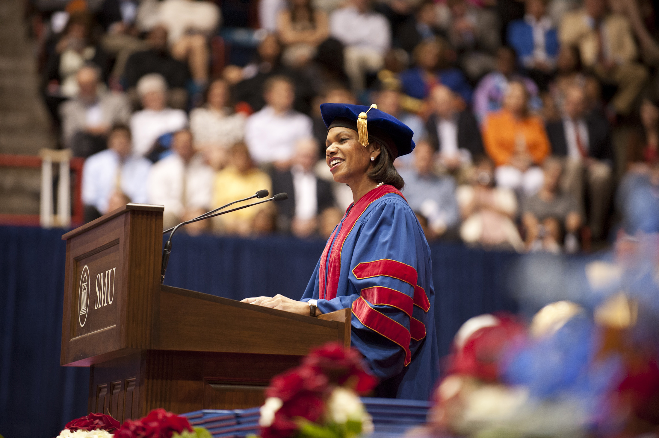Condoleezza Rice at SMU Commencement on 12 May 2012.