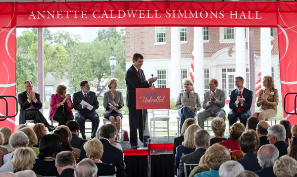 Simmons Hall Dedication Ceremony at SMU