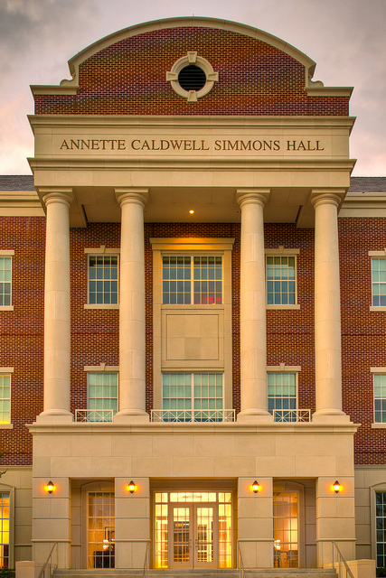Simmons Hall at Dusk by Ian Aberle