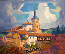 San Millán Iglesia, Segovia, Spain, by Jerry Bywaters, 1929