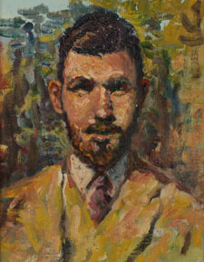 Self Portrait Sketch by Jerry Bywaters, 1927