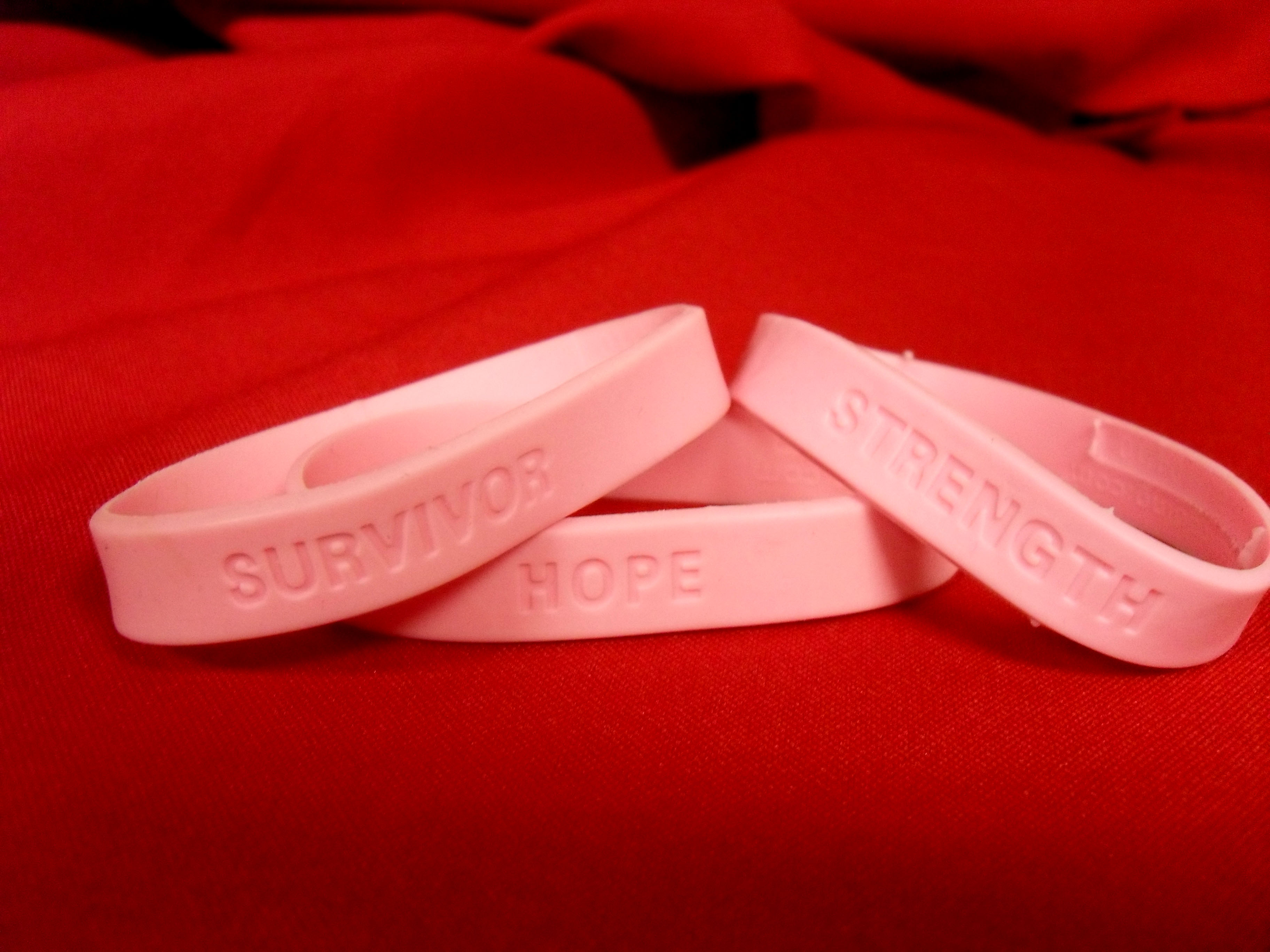 Pink bracelet sale to fight cancer