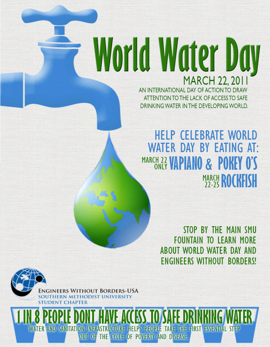 World Water Day at SMU poster