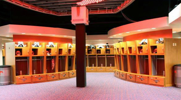 SMU Mustangs Football Locker Room