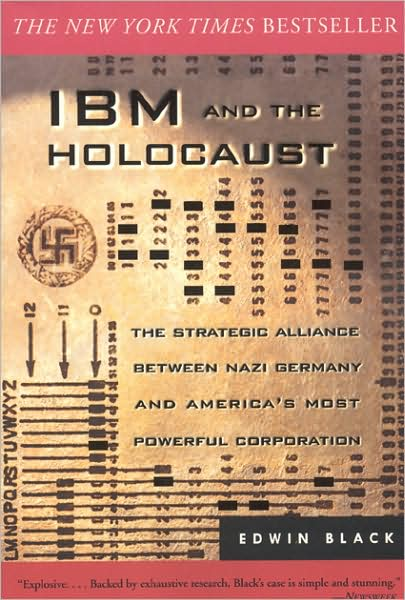 Bookcover, 'IBM and the Holocaust' by Edwin Black