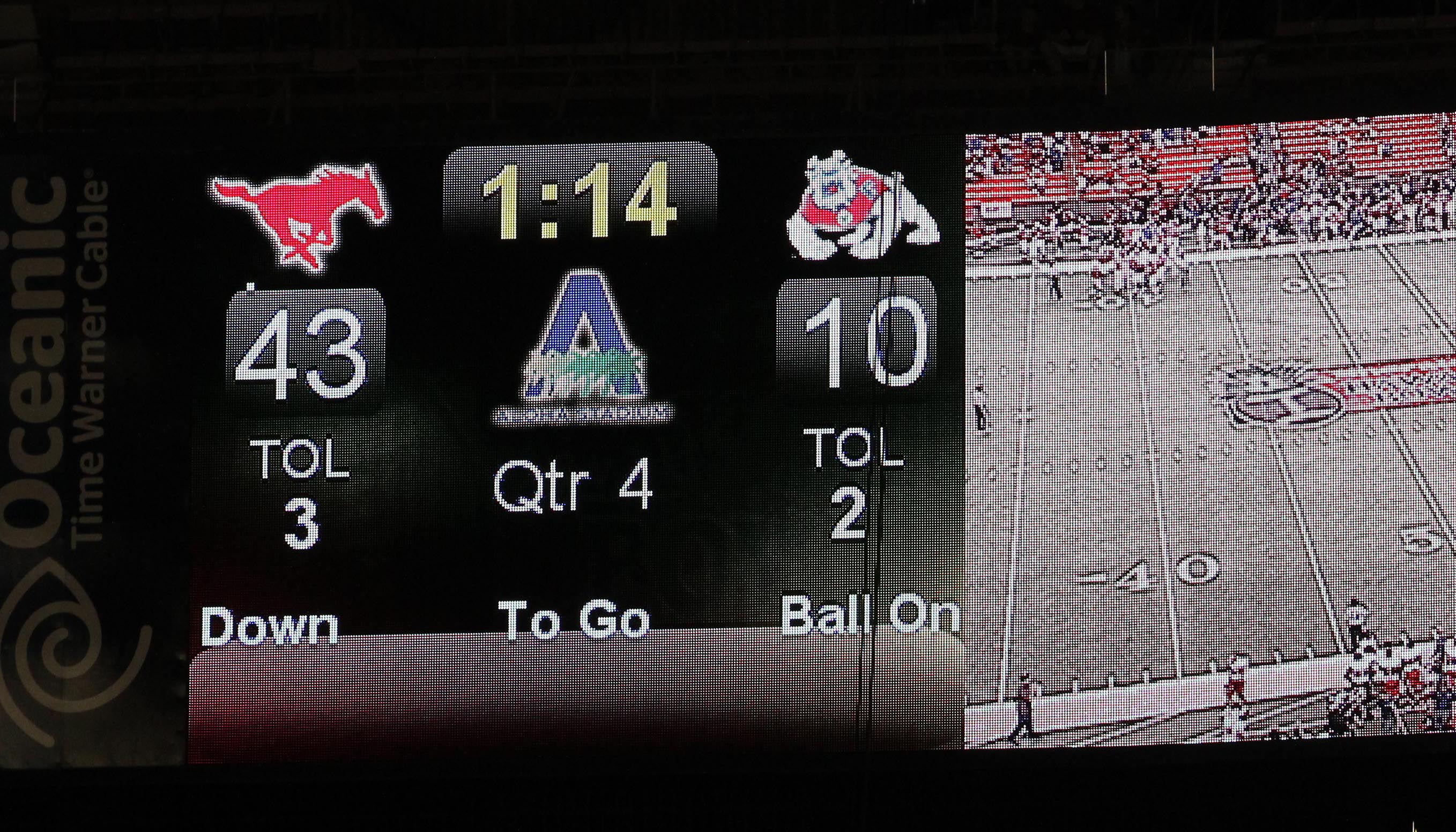 bowl game scoreboard