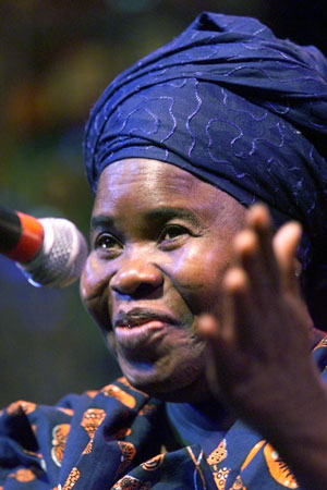Ghanaian playwright Ama Ata Aidoo