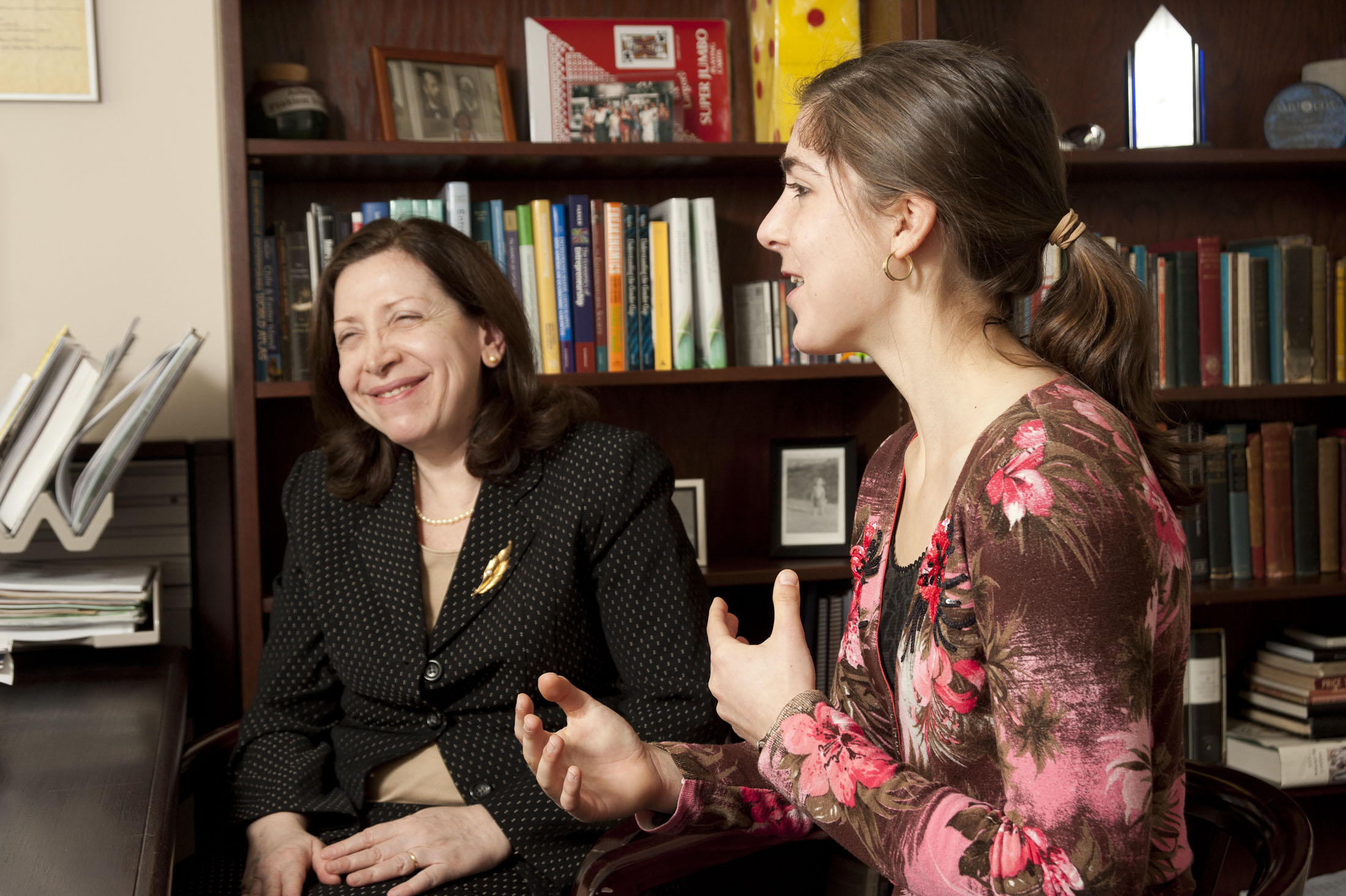 Professor Maria Minniti and Kalindi Dinoffer