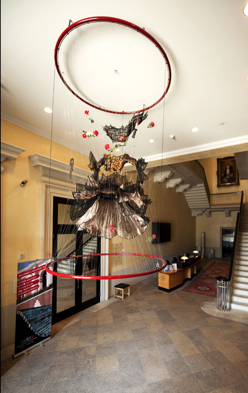 Suspended sculptural works by noted New York artist E.V. Day - Carmen