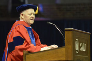 Ray Hunt at SMU Commencement on 21 December 2013