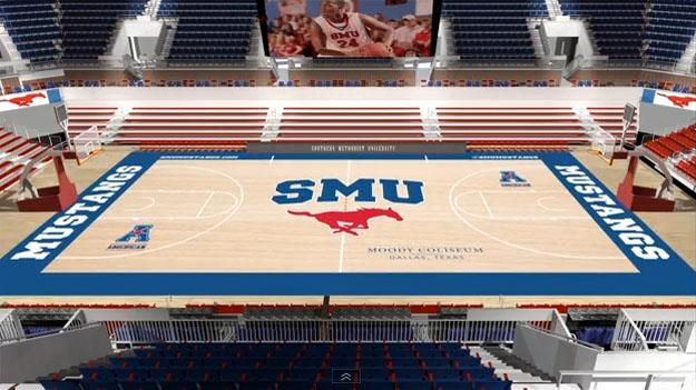 Moody Coliseum Court Design Revealed Smu