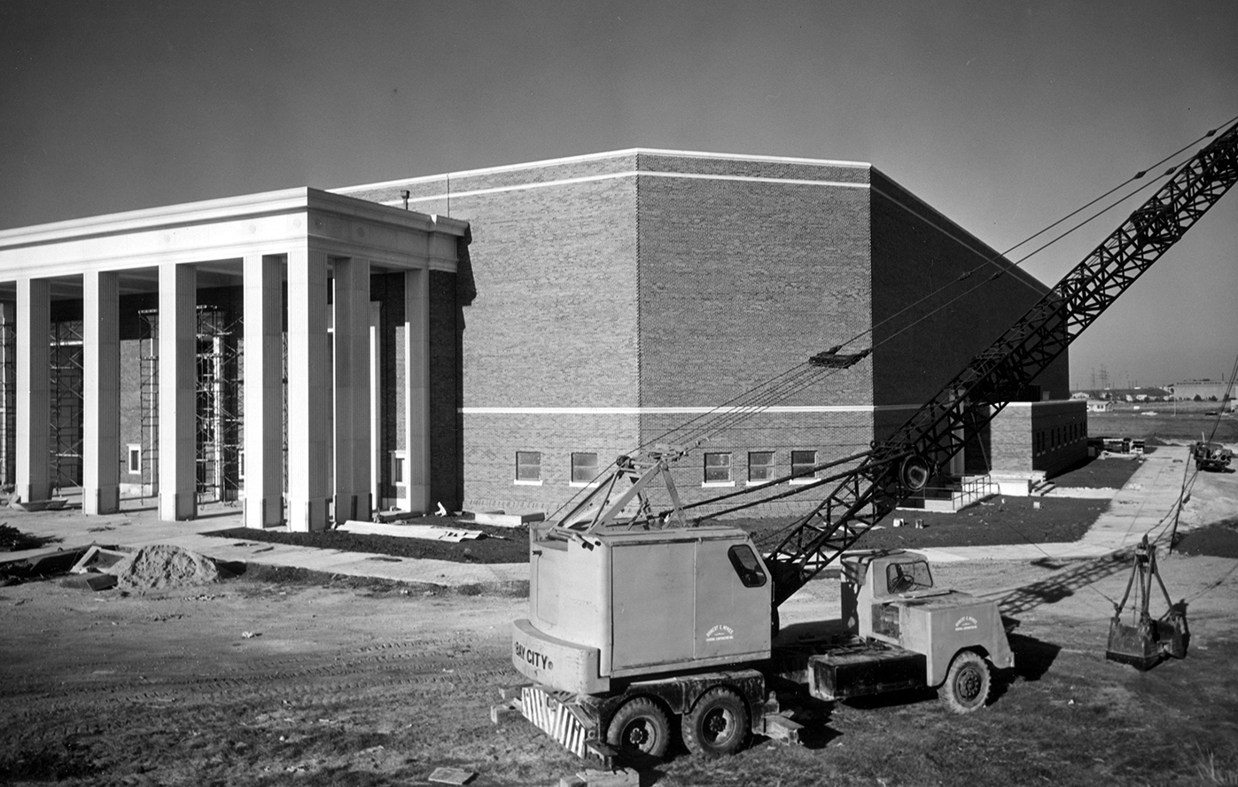 Moody Coliseum at SMU 1956