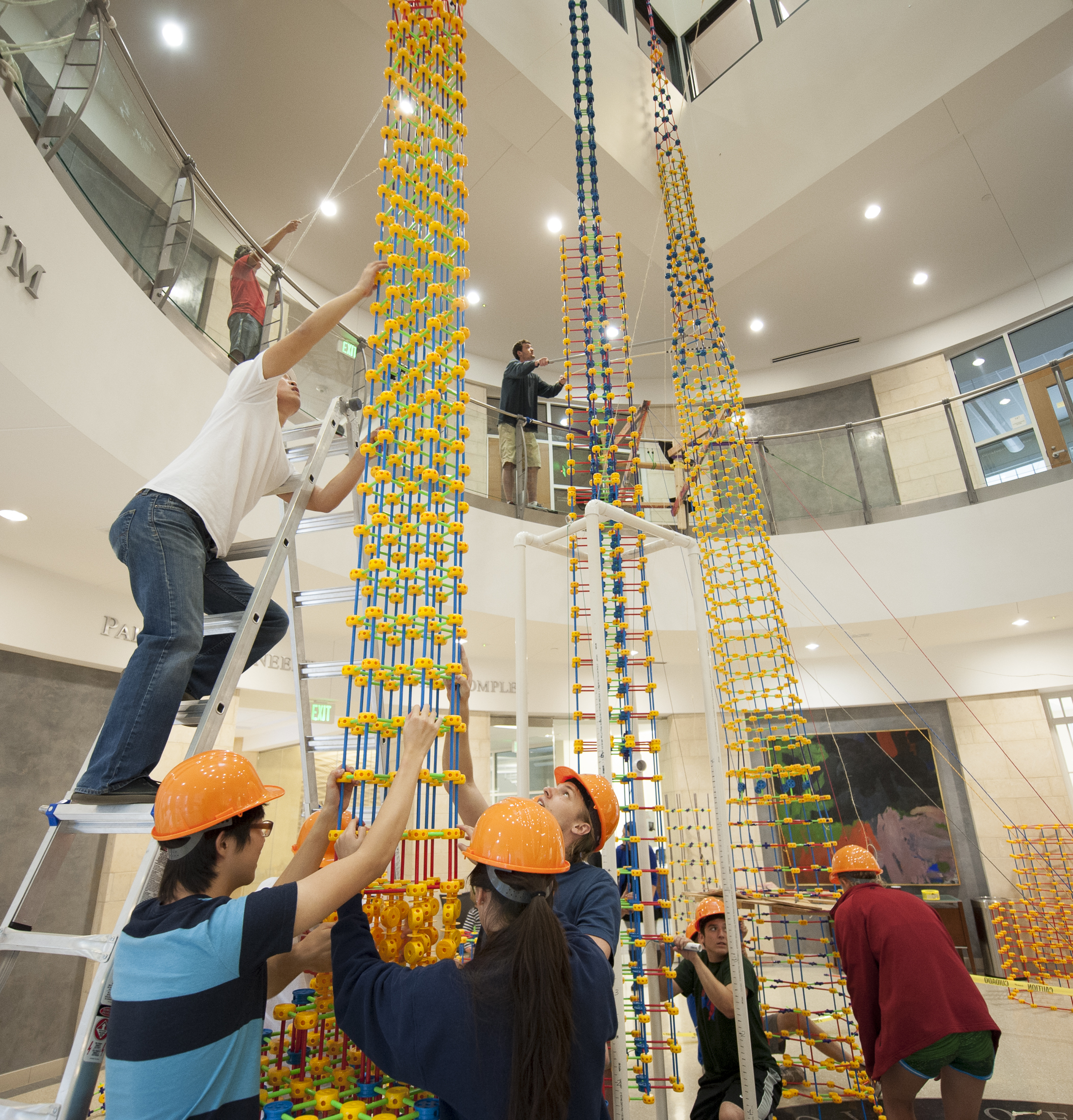 SMU engineering students in WABA Fun tallest toy contest