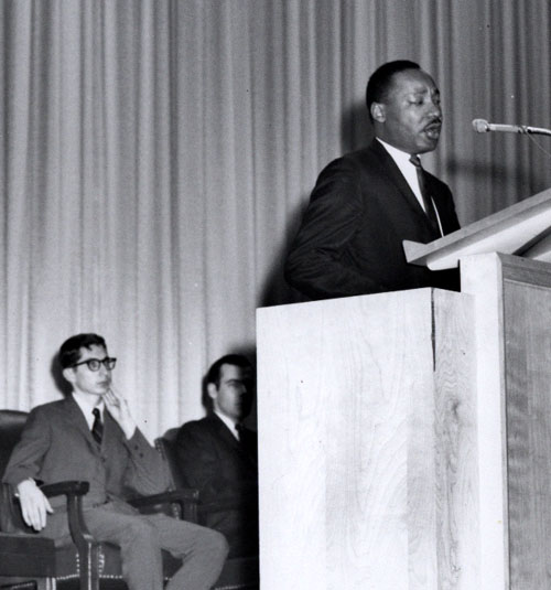 Rev. Martin Luther King Jr. at SMU's McFarlin Auditorium, March 1966