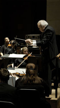 Paul Phillips with SMU orchestra