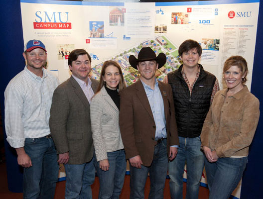 Fort Worth Campaign Steering Committee members include Taylor Martin '99, Watt Stephens '07, Ashley Deatherage '07, Bailey McGuire'07, Cullen Green '07 (Chapter President), Helen Barbre Stephens '89