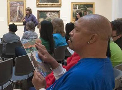 Bobby Jackson of Fort Worth at the Meadows Museum program for the sight impaired