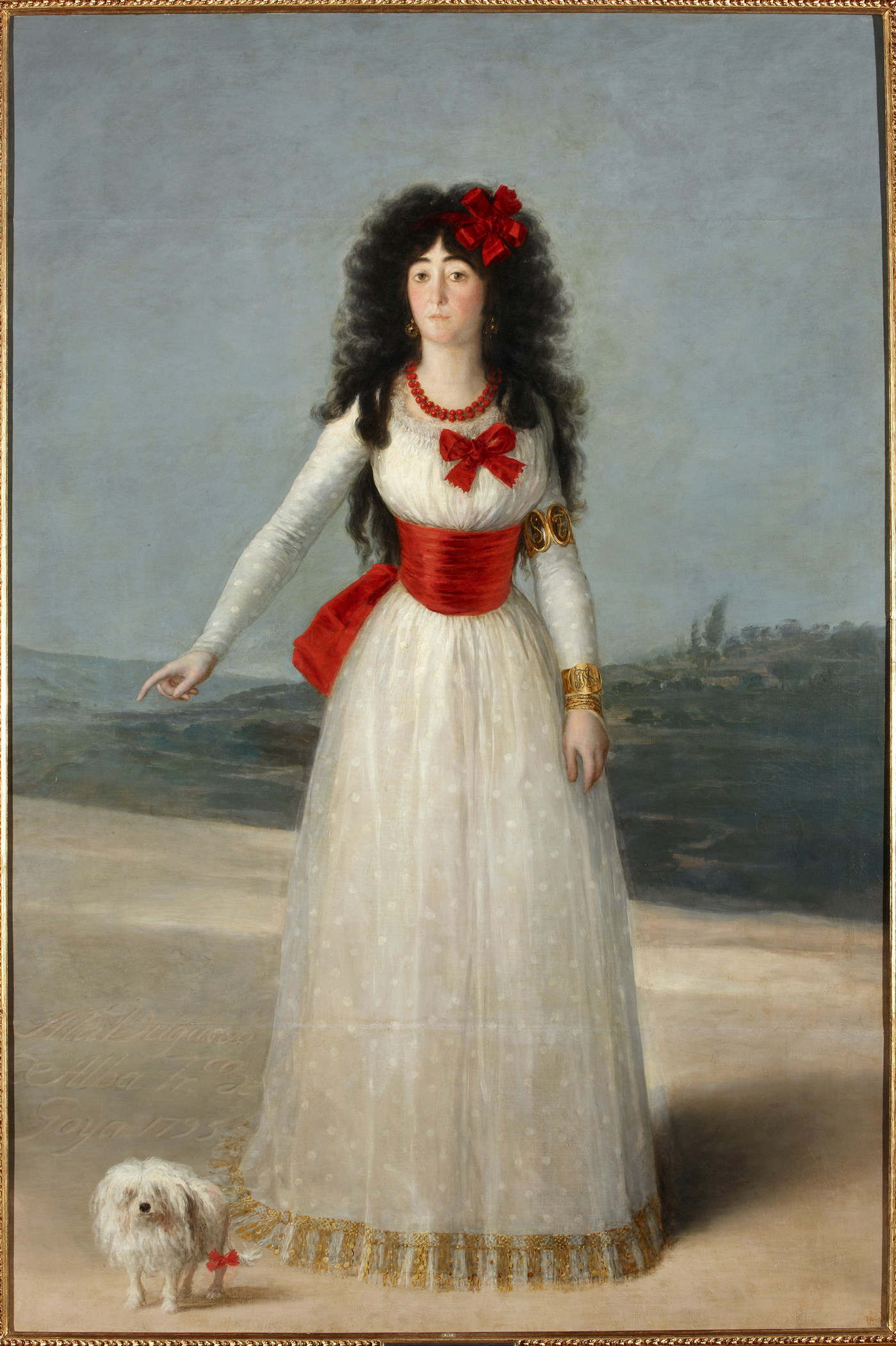 Francisco de Goya y Lucientes (Spanish, 1746-1828), The Duchess of Alba in White, 1795. Oil on canvas. Colección Duques de Alba, Palacio de Liria, Madrid.