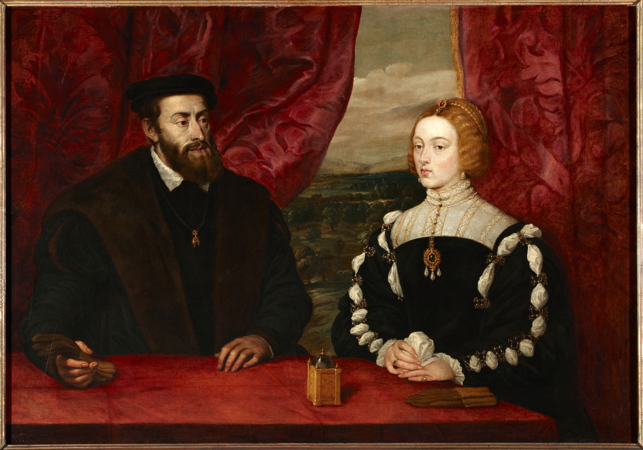 Peter Paul Rubens (Flemish, 1577-1640), Charles V and the Empress Isabella, c. 1628. Oil on canvas. Colección Duques de Alba, Palacio de Liria, Madrid.