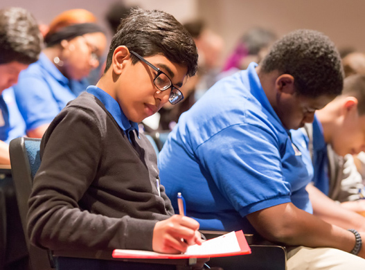 More than 400 Dallas-area high school students and parents participated in the Cutting Edge Youth Summit at SMU