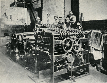 Shown here is original Bullock perfecting press used by the Dallas News at its beginning in 1885.