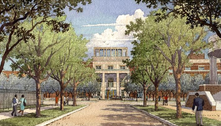 Artist rendering of the Bush Presidential Center