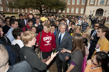 George Bush at SMU on Feb. 24, 2009