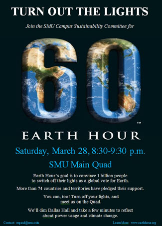 SMU Earth Hour Poster