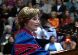 Laura Bush at SMU Commencement on May 16, 2009